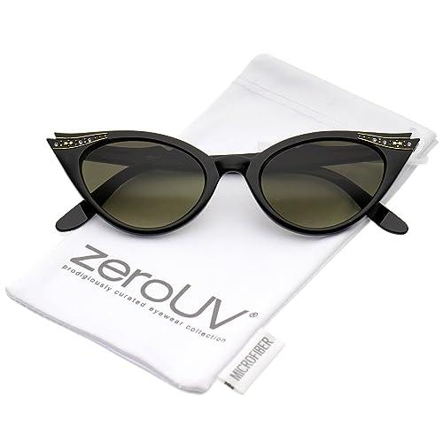 Amazon.com: ZeroUV – Gafas de sol de ojo de gato vintage de ...