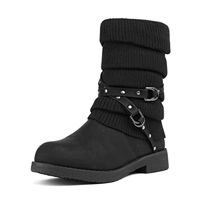 DREAM PAIRS Women's Mid Calf Fashion Winter Snow Boots | Shoes
