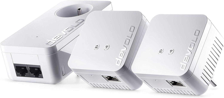 Devolo 9639 dLAN 550 WiFi Kit réseau CPL (connexion Internet 500 Mbit/s...