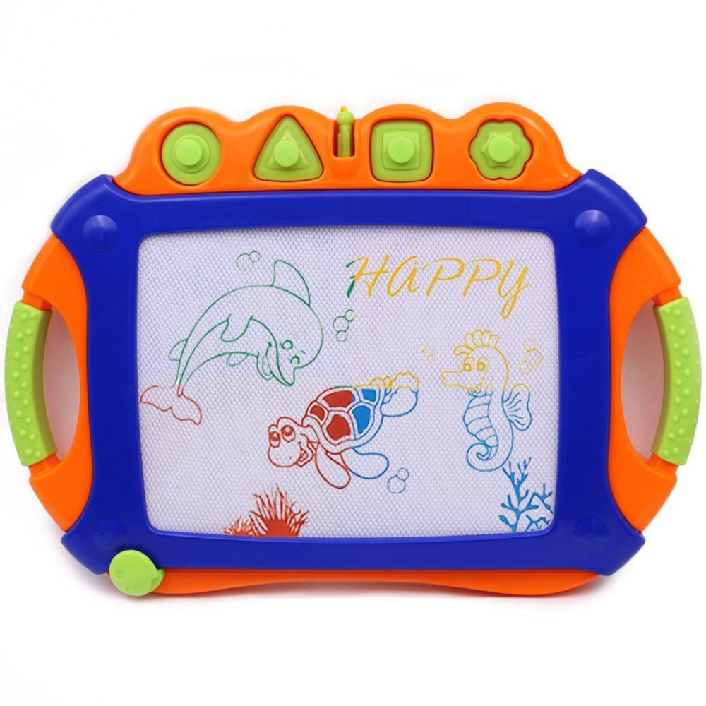WISHTIME Drawing Board Kids Magnetic Pro Toddler Dry Erase Writing Doodle Sketch Learning Toys