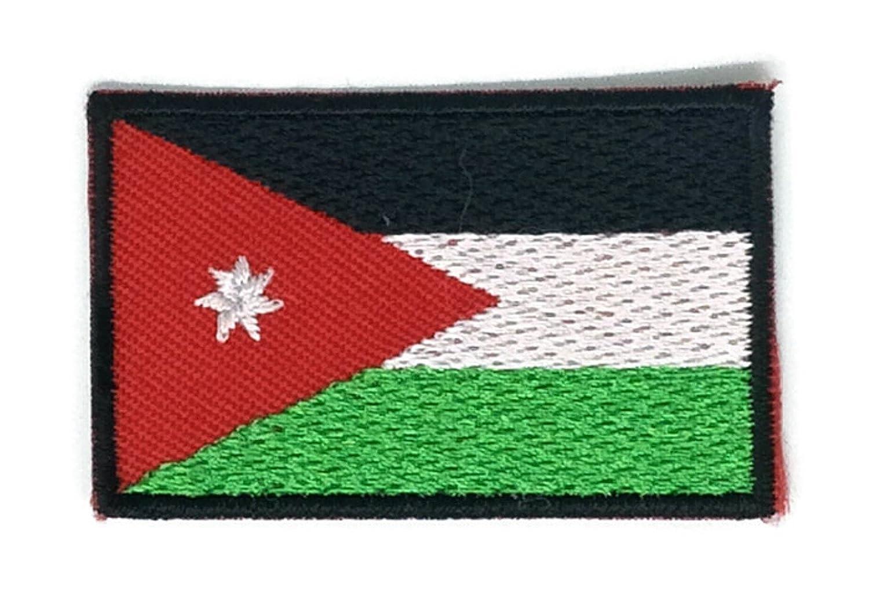 Parche para planchar con diseñ o de la bandera de Jordá n, tamañ o mediano tamaño mediano Iron on patches