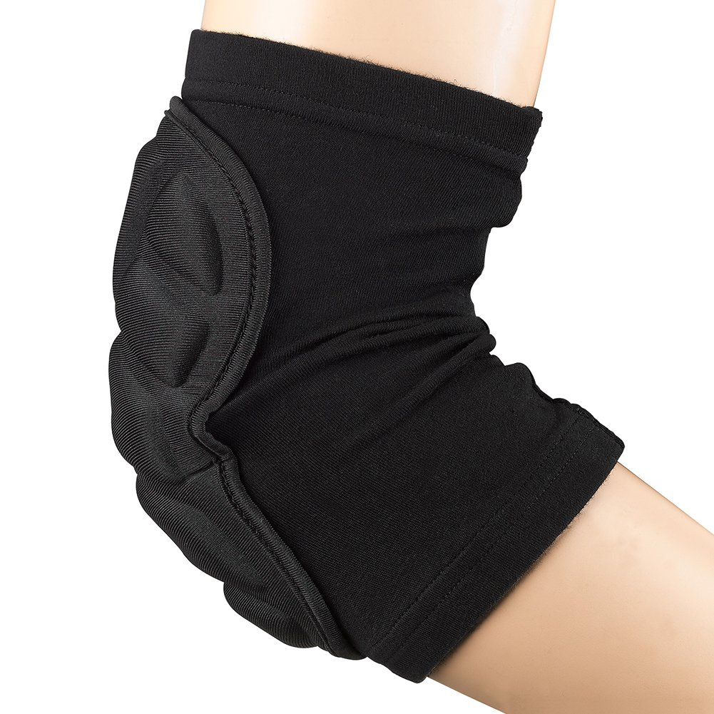 TTIO Elbow Pads- Breathable Protective Soft Lightweight Padded Sleeve Elbow for Skiing Skating Snowboarding Unisex (M)