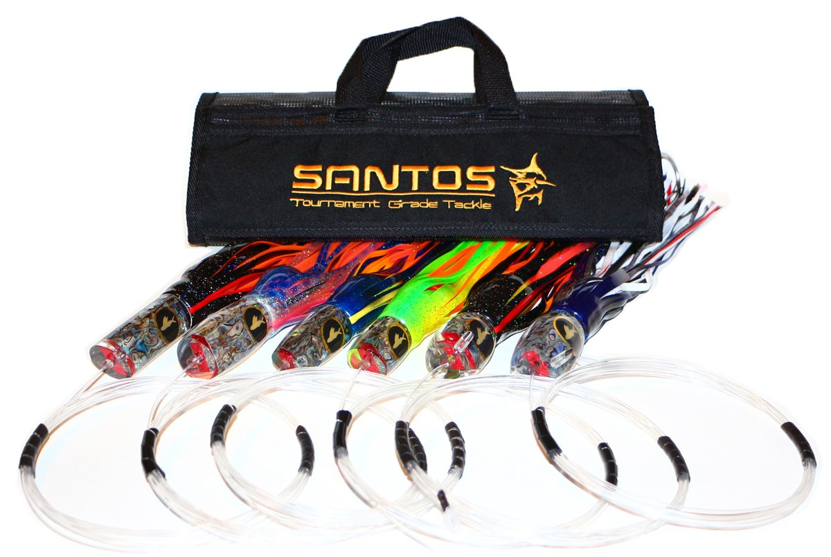 Santos Tournament Grade Tackle Marlin Offshore Big Game Trolling Lure Pack, Black/Blue by Santos Tournament Grade Tackle