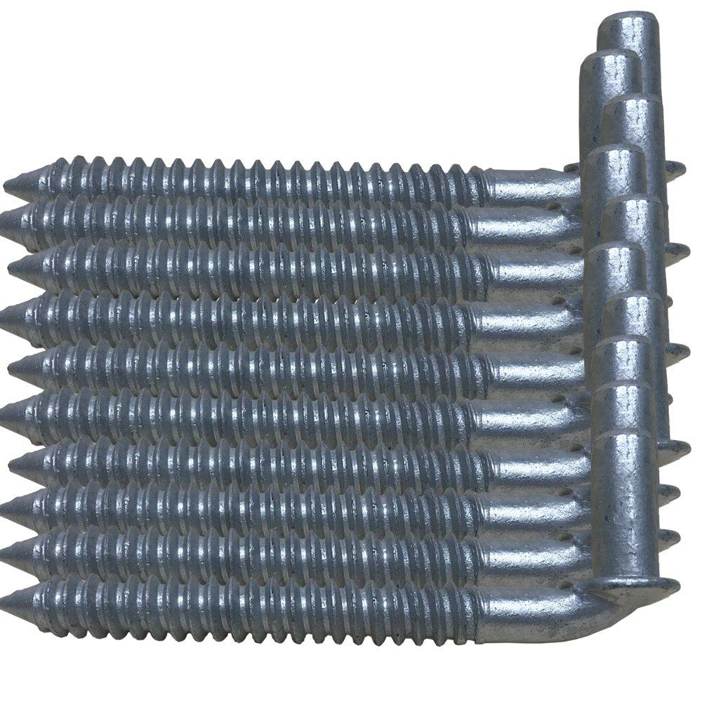 5/8 Chain Link Lag screw Gate Hinge Post Side Wood Bolt Galvanized Steel Lot 10