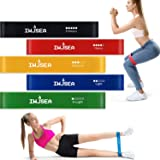IWJSEA Exercise Bands, Resistance Bands for Home Gym Yoga Strength Training 100% Natural Latex Workout Bands Resistance Loops Set of 5