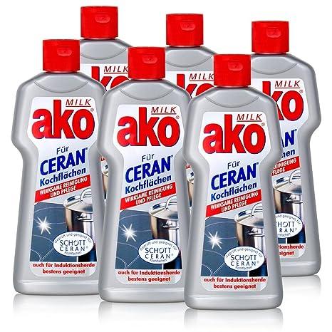 AKO Cristal de cerámica limpiador Milk 250 ml para ...