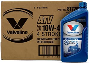 Valvoline 4-Stroke ATV/UTV SAE 10W-40 Motor Oil 1 QT