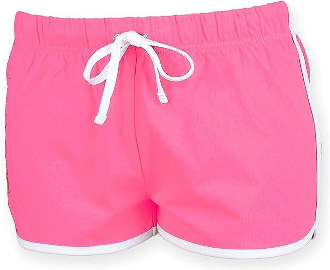 Women's Retro Drawstring Fitness Shorts. XS to XXL