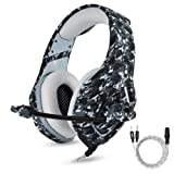 Amazon Price History for:PS4 Gaming Headset with Mic for PC Mac Laptop New Xbox one Nintendo DS PSP Surround Stereo Sound Noise Reduction One Key Mute Gaming Volume Control Omnidirectional Microphone Gamer ( Camouflage )