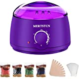 Wax Warmer Electric Wax Heater Hair Removal Waxing Kit with 4 Flavors Wax Beans and 10 Sticks Purple