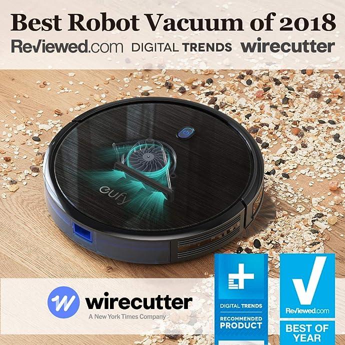 金盒特价 ANKER旗下 eufy RoboVac 11S 超薄静音智能扫地机器人 吸尘器 6.5折$149.99 两色可选 海淘转运到手约¥1308