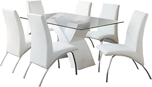 Furniture of America Rivendale 7-Piece Modern Dining Table Set