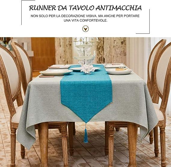 180 Cm XQK Runner da Tavolo Vintage allUncinetto 24 Eleganti Nappe Vuote Decorazioni da Tavolo in macram/è di Cotone per Eventi di Festa di Festival di Nozze