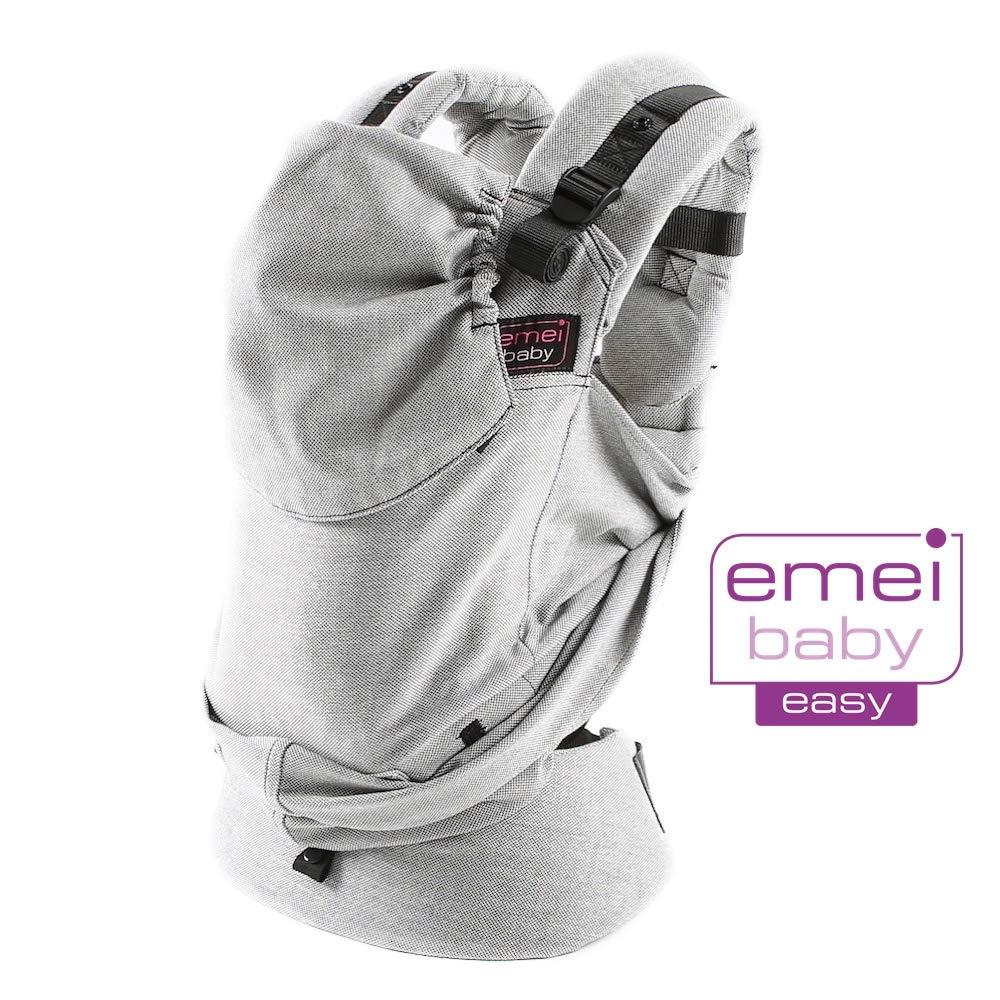 Mochila portabeb/és color gris Easy Emeibaby