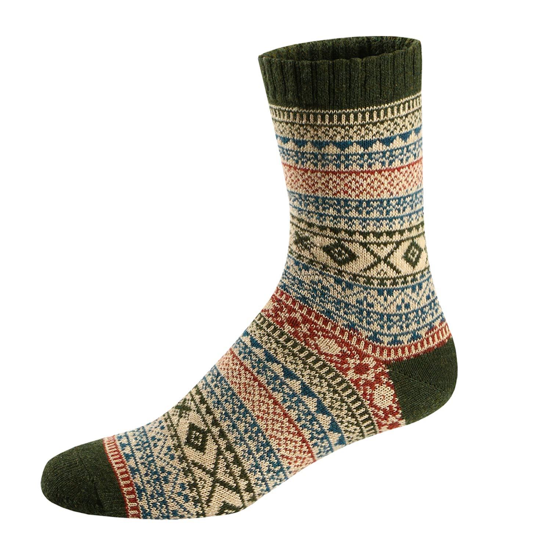 Calcetines de Lana Calientes Para Otoño e Invierno Estilo Vintage ...
