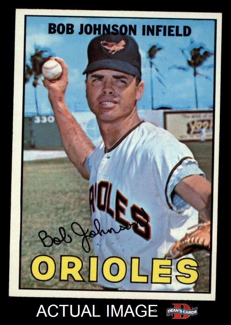 1967 Topps # 38 xRL Bob Johnson Baltimore Orioles (Baseball Card) (NO Thin Vertical Red Line Extending into Lower Border Near the Left Corner on Front) Dean's Cards 8 - NM/MT Orioles 71RslseUvQL