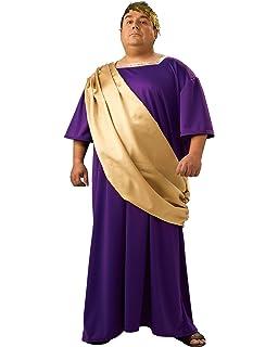 Amazon.com: Caesar Disfraz Roma Griego Toga Traje Morado Y ...