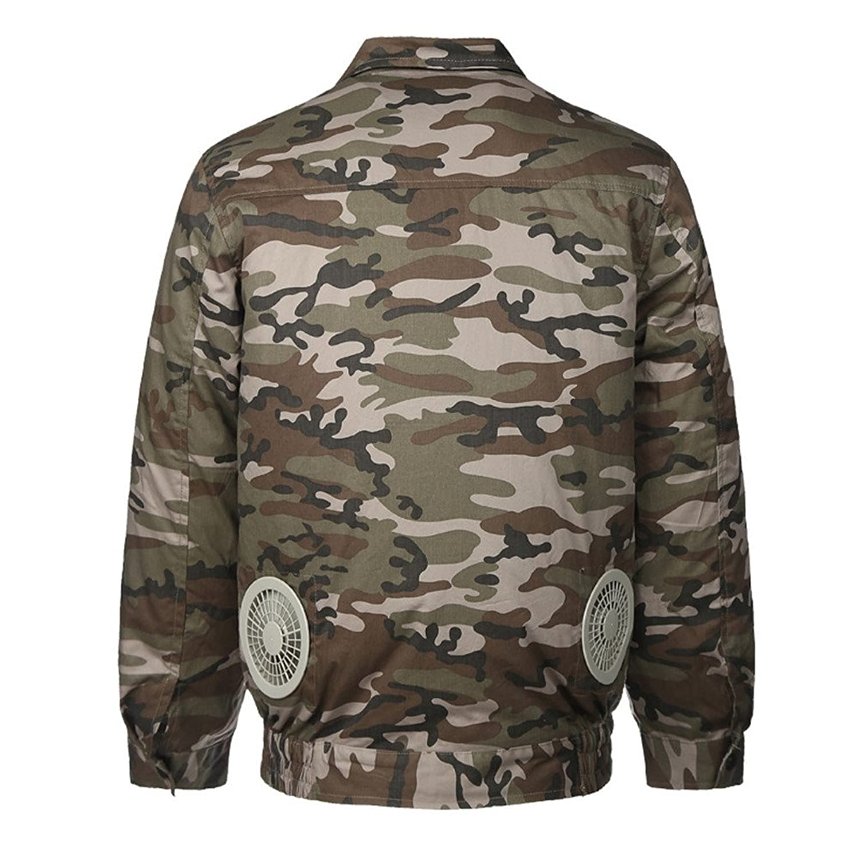 空調服 空調風神服 作業服 長袖ブルゾン 綿100% 空調服+リチウムセット B072VGK75G