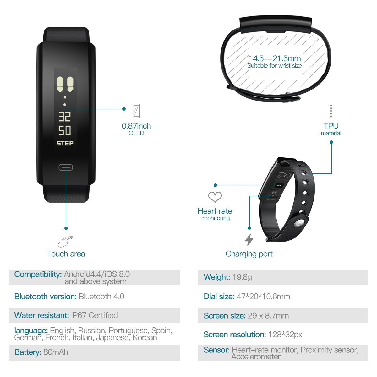 Fitness Tracker Hr Activity With Heart Rate Monitor Alarm Circuit Homemade Projects Watchhizek Ip67 Waterproof Smart Wristband Calorie Counter Watch Pedometer