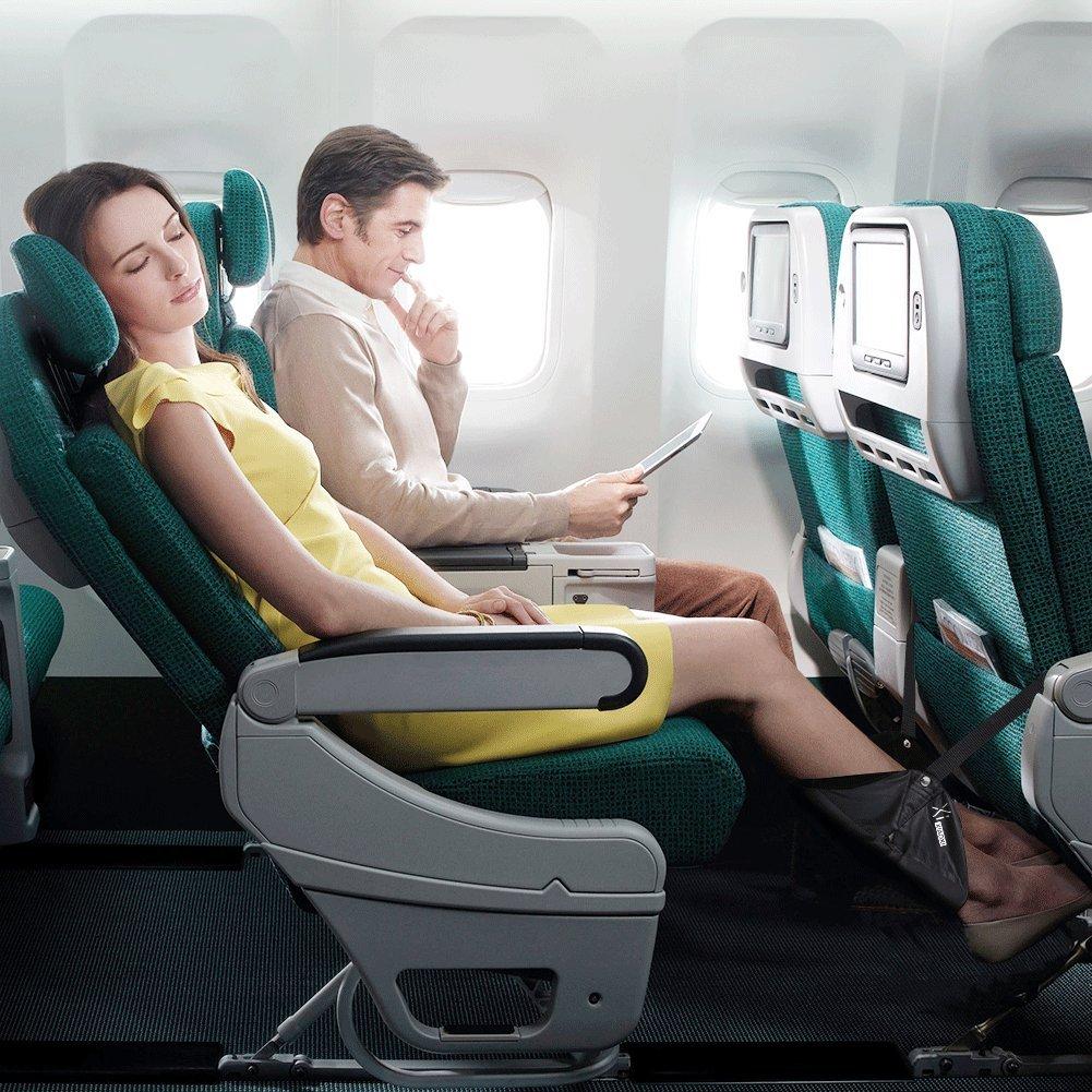 B/üro XIAOXI Fu/ßst/ütze Tragbar Reisen Fu/ß H/ängematte f/ür Flugzeug Reise - Schwarz