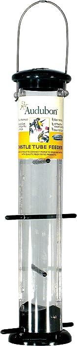 Woodlink NATUBE9 Audubon Plastic 8 Port Thistle Finch Feeder, Green, 15-Inch