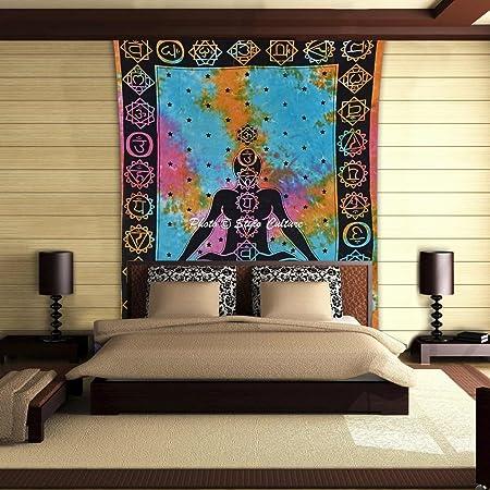 Stylo Culture védica Chakra Mandala Tapiz de algodón Multi del ...