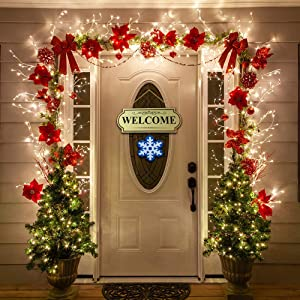 """10 Pieces Set Seasonal Welcome Signs Interchangable Door Hanging Festive Plaque Whimsical Decor - 11 1/2"""" L x 4 1/4"""" H, Each Design Approx. 4 1/2"""" L x 4"""" H.by CTD Store"""