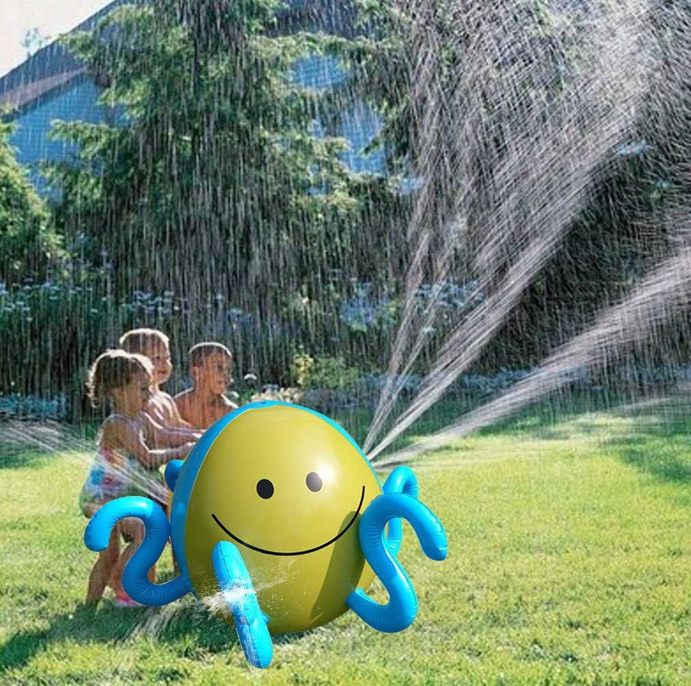KIKIGOAL Inflatable Sprinkler Water Spray Ball, Sprinkle Mat Beach Water Ball Summer Pool Toys for Fun for Children Lawn