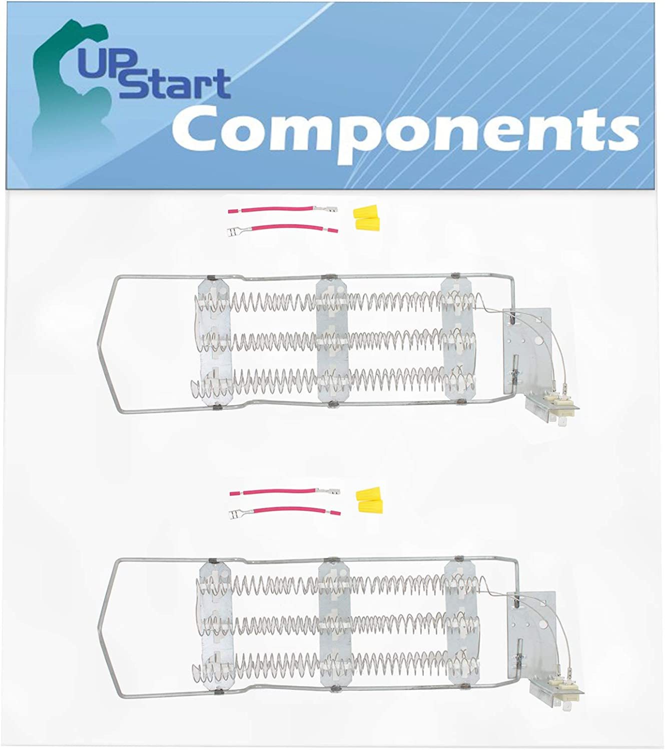 2-Pack 4391960 Heating Element Replacement for Kenmore/Sears 110.86582820 - Compatible with WP4391960 696579 Dryer Element