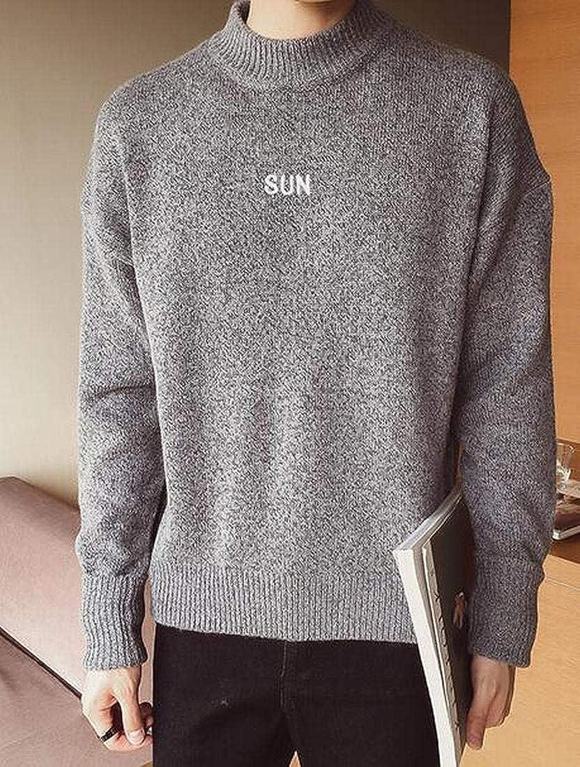 Fubotevic Mens Turtleneck Regular Fit Autumn Winter Knitted Pullover Sweater Jumper