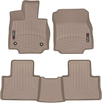 Amazon Com Weathertech Custom Fit Floorliner For Toyota Rav4 1st 2nd Row Tan Automotive