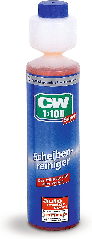 Dr Wack Cw1 100 Super Scheibenreiniger 250 Ml I Premium Scheibenreiniger Konzentrat Für Alle Scheibenwaschanlagen Scheinwerfer Reinigungsanlagen I Hochwertige Autopflege Made In Germany Auto