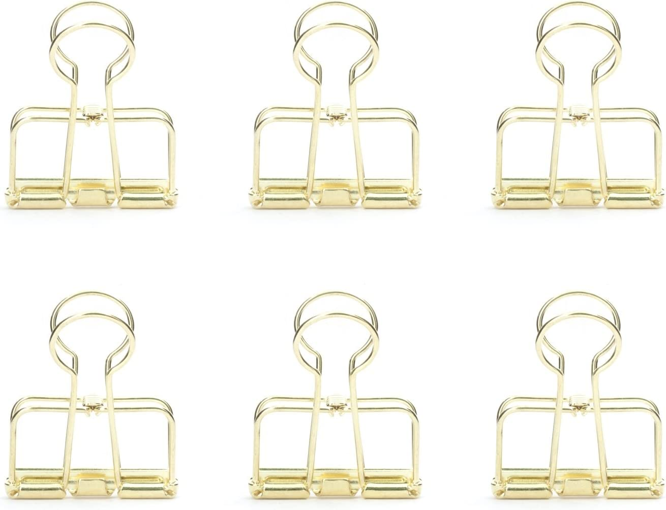 Kikkerland OR73-GD Gold Wire Clips, Paper-Clips