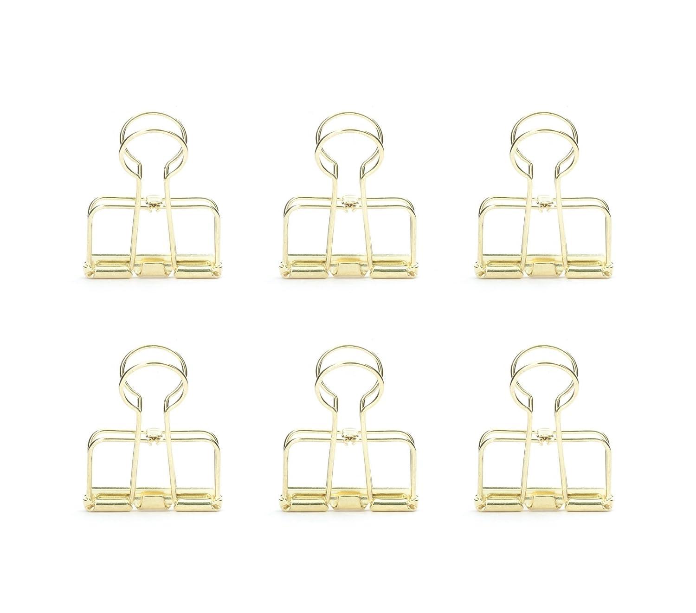 Kikkerland OR73-BK Clip fermafogli in metallo, colore nero Gold Kikkerland - HI OR73-GD