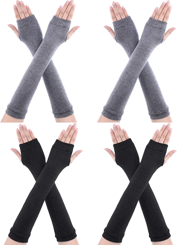 Novawo en laine Gants Mitaines Chauffe Bras Longs pour femmes Lady