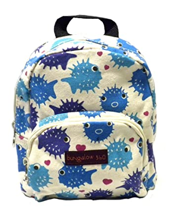 Amazon.com | Bungalow 360 Puffer Fish Kids Small Backpack | Kids ...