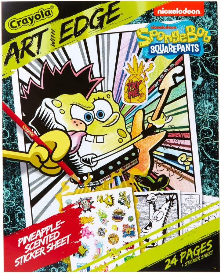 Amazon.com: Crayola Spongebob Coloring Book Pages, Scented Stickers, 24Pgs:  Toys & Games