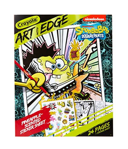 Crayola Spongebob Squarepants Coloring Book Pages with Scented Stickers,  Art with Edge, 24 Pages, Multicolor