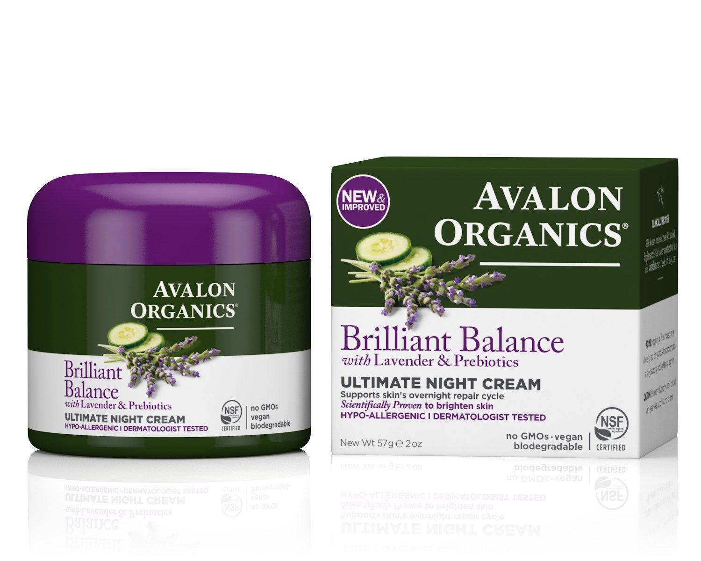 Avalon Organics Brilliant Balance Ultimate Night Cream, 2 Ounce
