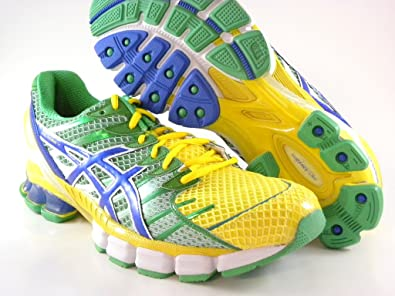 best loved 678cc 68fd4 ... where to buy asics gel kinsei 4 mens running shoe vibrant yellow blue  brazil green c8d77