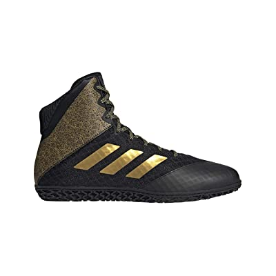 adidas Mat Wizard Hype Black/Gold Wrestling Shoes 10: Sports & Outdoors