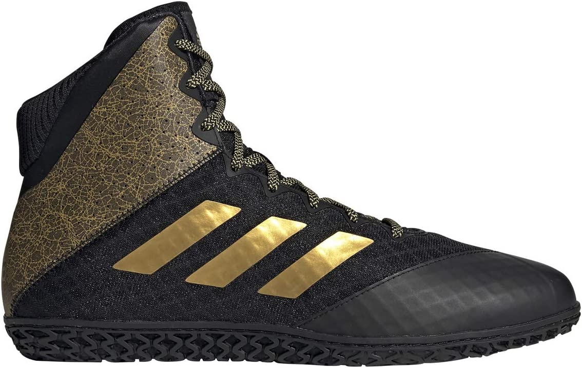 adidas Mat Wizard Hype Black/Gold Wrestling Shoes (EF1476): Sports & Outdoors