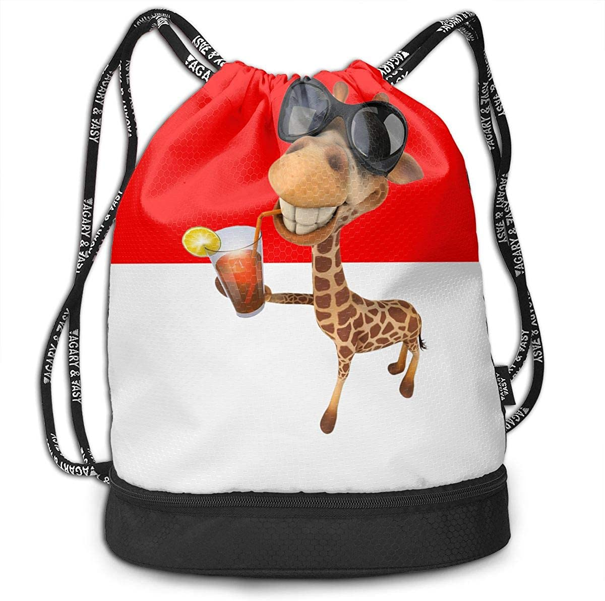 Giraffe Drawstring Backpack Rucksack Shoulder Bags Training Gym Sack For Man And Women