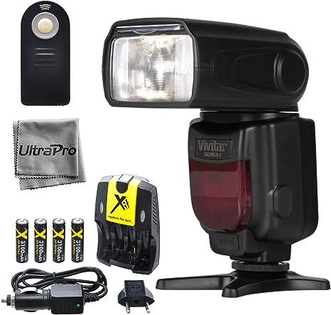Vivitar df-372 rebote/Zoom/swivel flash para cámaras réflex ...