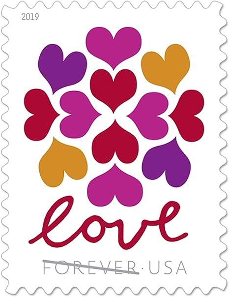 Usps Hearts Blossom Love Forever Stamps Wedding Celebration Graduation 1 Sheet Of 20 Stamps 2019