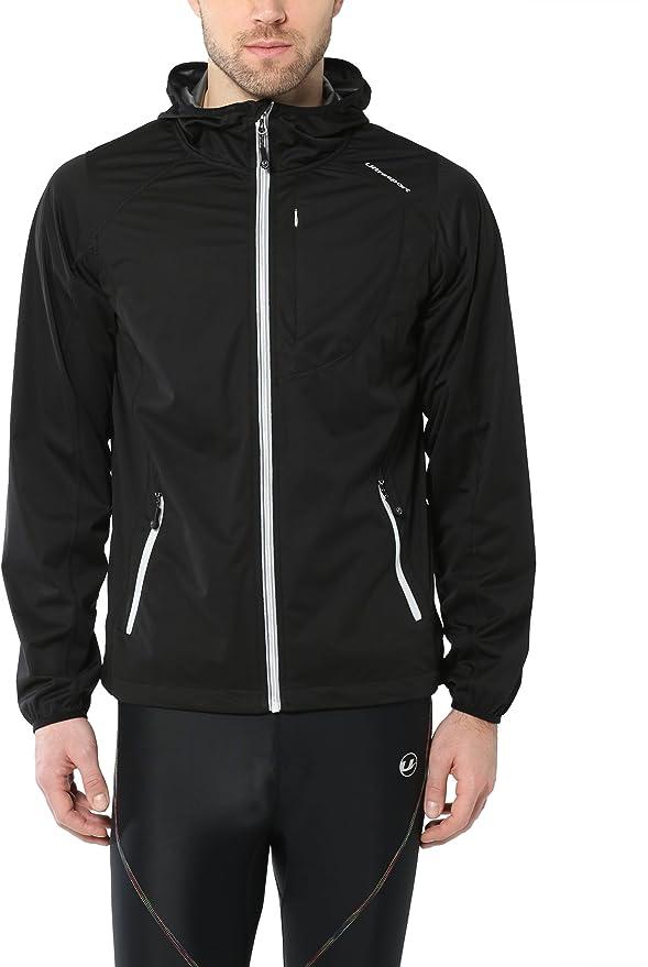 TALLA L. Ultrasport Chaqueta multifuncional de hombre Endy con Ultraflow 3.000, ligera y transpirable; por este motivo, ideal como chaqueta de correr, de entrenamiento o de ciclismo, impermeable y resistente al viento