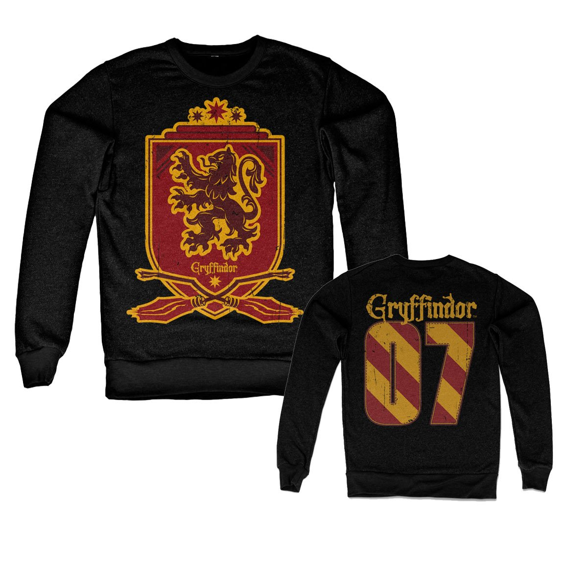 Nera HARRY POTTER Licenza Ufficiale Inked Gryffindor 07 Felpa