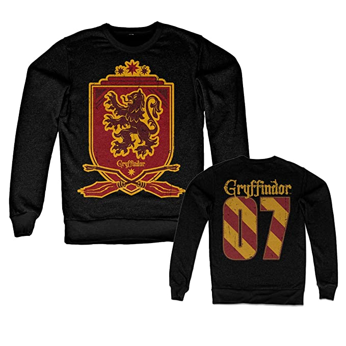 Harry Potter Oficialmente Licenciado Inked Gryffindor 07 Sudaderas (Negro): Amazon.es: Ropa y accesorios