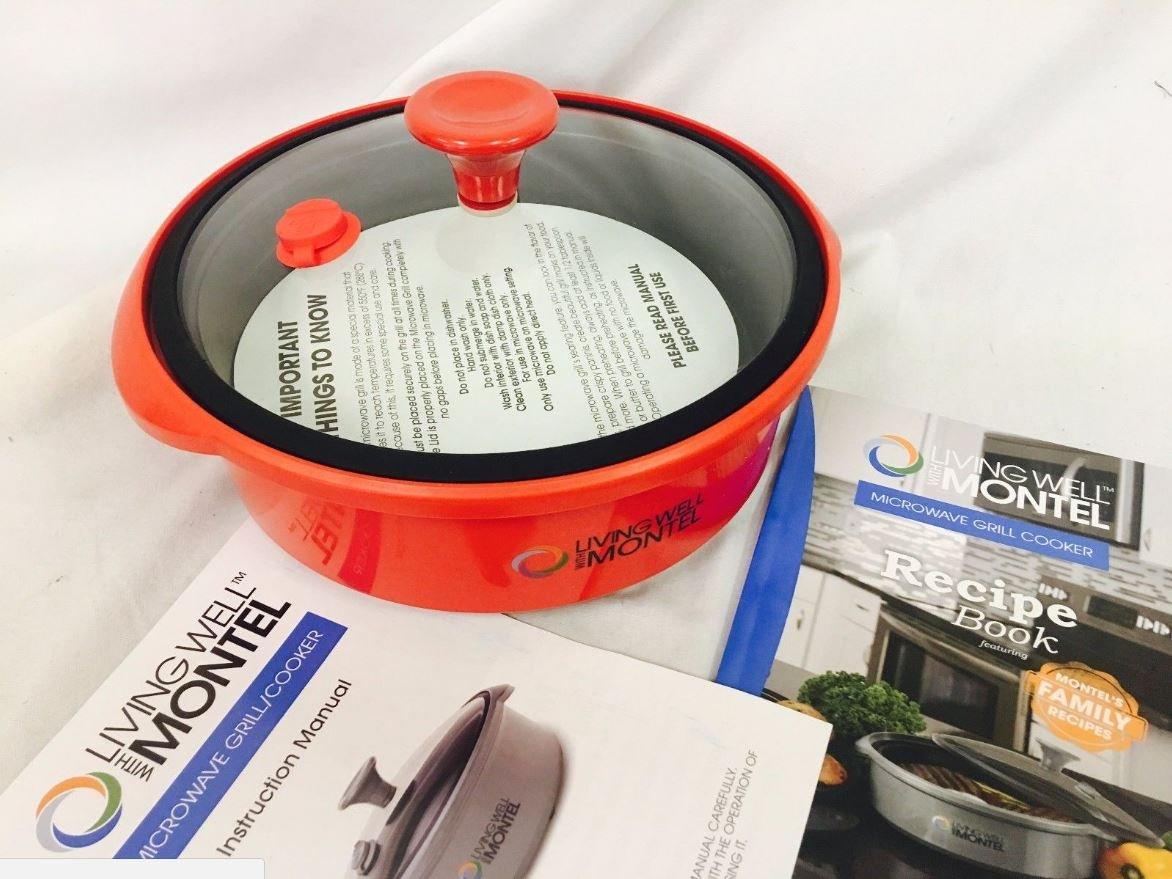 Vivir bien con Montel microondas GRILL, color rojo con tapa de ...