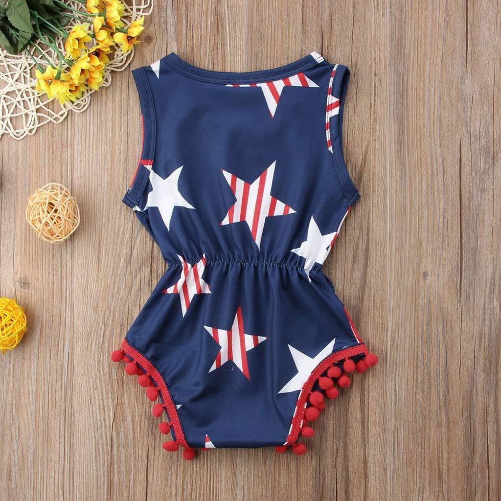 Baby Girls Romper Jumpsui 2019 Liusdh Infant Baby Boys/&Girls 4th of July Stars and Stripe Patriotic Romper Bodysuit
